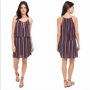 Splendid Stripe Dress XS Red White Blue